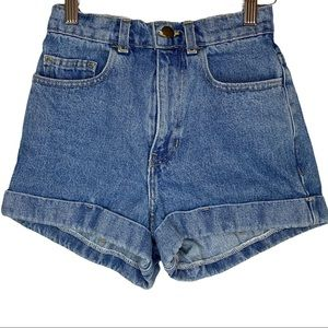 American Apparel high rise jean shorts